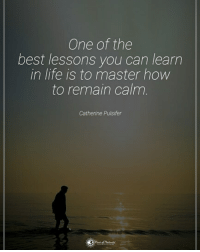 Life, Memes, and Best: One of the  best lessons you can learn  in life is to master how  to remain calm  Catherine Pulsifer One of the best lessons you can learn in life is to master how to remain calm. - Catherine Pulsifer powerofpositivity