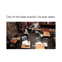 Omg, Best, and Girl Memes: One of the best pranks l've ever seen! OMG