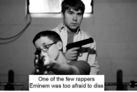 Eminem: One of the few rappers  Eminem was too afraid to diss