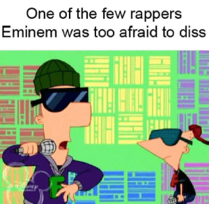 Diss: One of the few rapperS  Eminem was too afraid to diss