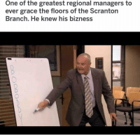 Memes, Creed, and 🤖: One of the greatest regional managers to  ever grace the floors of the Scranton  Branch. He knew his bizness CREED