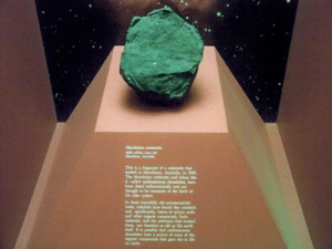One of the oldest rocks in existence, the Murchison Meteorite. Its 4,600,000,000 years old, and likely existed before the Earth itself had completely formed. Interestingly, it also contains amino acids, the chemical building blocks of DNA.: One of the oldest rocks in existence, the Murchison Meteorite. Its 4,600,000,000 years old, and likely existed before the Earth itself had completely formed. Interestingly, it also contains amino acids, the chemical building blocks of DNA.