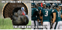 Be Like, Chip Kelly, and Football: ONE OF THESE TWO ISGETTING KILLED ON THANKSGIVING  (a NFL MEMES  SANGHEZ  THE OTHER ONE ISATURKEY Chip Kelly be like: Our plays would work if we were wearing the Color Rush uniforms!
