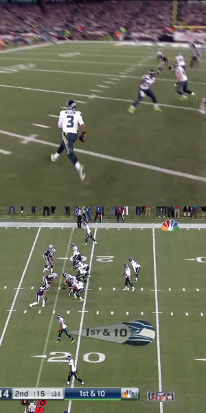 One of three touchdown passes by Russell Wilson in a matchup against the Patriots.  Watch this SNF classic TONIGHT at 8pm ET on @NBCSN. https://t.co/GvFP654s5p: One of three touchdown passes by Russell Wilson in a matchup against the Patriots.  Watch this SNF classic TONIGHT at 8pm ET on @NBCSN. https://t.co/GvFP654s5p