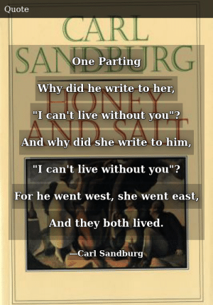 Carl Sandburg-Honey and Salt