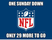 Football, Memes, and Nfl: ONE SUNDAY DOW  @NFL_MEMES  ONLY 29 MORE TO GO Hopefully the AAF makes this go by quicker... https://t.co/2M9e62mhc5