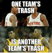 Cavs down 3-1 and the former Knicks guards continue to struggle. Shoutout to Iman Shumpert for throwing the ball right at a GSW player for no apparent reason. Shoutout to JR for fouling a guy shooting from halfcourt.  -Tommy New York Knicks Memes: ONE TEAM'S  TRASH  IS ANOTHER  TEAM'S TRASH Cavs down 3-1 and the former Knicks guards continue to struggle. Shoutout to Iman Shumpert for throwing the ball right at a GSW player for no apparent reason. Shoutout to JR for fouling a guy shooting from halfcourt.  -Tommy New York Knicks Memes