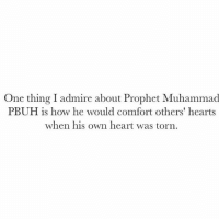 "Memes, Heart, and Hearts: One thing I admire about Prophet Muhammad  PBUH is how he would comfort others' hearts  when his own heart was torn Peace be upon him ♥️ "" and Allah said: I am with the ones whose hearts are torn.."" - Hadith Qudsi"