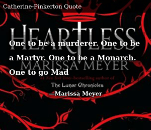 SIZZLE: One to be a murderer. One to be a Martyr. One to be a Monarch. One to go Mad