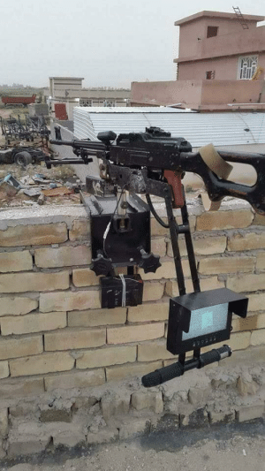 One type of remote control guns used by ISIS in Iraq and Syria: One type of remote control guns used by ISIS in Iraq and Syria