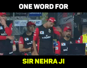 Memes, Word, and 🤖: ONE WORD FOR  Tasty Tyeak HARRIER  ROYAL  CHALLE  IPL  WROGI  嵅.  woi  Sst  SIR NEHRA J One word!