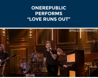 "Love, Target, and Http: ONEREPUBLIC  PERFORMS  ""LOVE RUNS OUT""   # FALLO NTONIGHT <div><strong>OneRepublic: Love Runs Out</strong></div> <div><a href=""http://www.nbc.com/the-tonight-show/segments/10161"" target=""_blank"">OneRepublic performs &ldquo;Love Runs Out&rdquo;</a> for The Tonight Show audience!</div>"