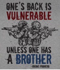 @valhallawear's newest shirt design!!! The Vikings said this back in the day and it still holds true today. Available right now at www.valhallawear.net!! LINK IN BIO ☝️☝☝ @valhallawear is vet owned and operated. Their clothing line is Military operator inspired and Viking approved. 🇺🇸 @valhallawear @valhallawear @valhallawear valhallawear apparel military militarylife army navy airforce operator marines deployment armyrangers navyseals guns gunrange pewpew America freedom tactical warrior 2ndamedment train fight guns: ONE'S BACK is  VULNERABLE  UNLESS ONE HAS  A BROTHER @valhallawear's newest shirt design!!! The Vikings said this back in the day and it still holds true today. Available right now at www.valhallawear.net!! LINK IN BIO ☝️☝☝ @valhallawear is vet owned and operated. Their clothing line is Military operator inspired and Viking approved. 🇺🇸 @valhallawear @valhallawear @valhallawear valhallawear apparel military militarylife army navy airforce operator marines deployment armyrangers navyseals guns gunrange pewpew America freedom tactical warrior 2ndamedment train fight guns