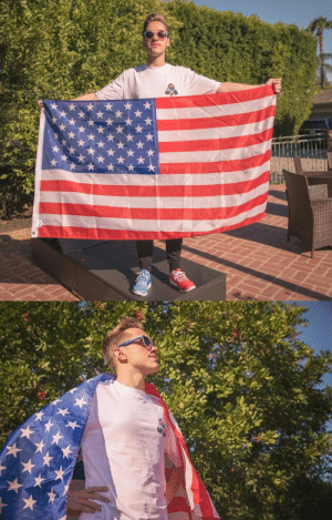 Tumblr, American, and Blog: onetrickzenmain: this man is more patriotic than i am and i'm actually american