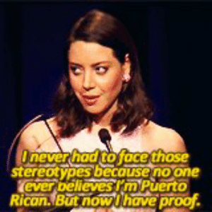 Aubrey Plaza IS Quiara Hudes https://t.co/RUTYa3SVPB: Onever had to face those  stereotypes becouse no one  ever bellevesrm Puerto  Rican.But now Uhave proof Aubrey Plaza IS Quiara Hudes https://t.co/RUTYa3SVPB