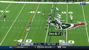 Tyrell Williams is a TD machine!   His 46-yarder gives the @Raiders a 21-13 lead. #OAKvsHOU @TyrellWilliams_  📺: CBS 📱: NFL app // Yahoo Sports app Watch free on mobile: https://t.co/a16R5wPShJ https://t.co/o7c3jgHlK1: ONFL  3RD & 7  :02  OAK  14  (3-3)  HOU  13 3RD 8:02 2  3RD & 7  4-3)  NEW ORLEANS (7-1)  ARIZONA (3-4-1)  31  NFL  FINAL Tyrell Williams is a TD machine!   His 46-yarder gives the @Raiders a 21-13 lead. #OAKvsHOU @TyrellWilliams_  📺: CBS 📱: NFL app // Yahoo Sports app Watch free on mobile: https://t.co/a16R5wPShJ https://t.co/o7c3jgHlK1