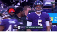 Nfl, Nick Saban, and Nick: ONFL  AFC WILD CARD  CAI  QB  LAST APPEARANCE: WEEK 9 vs PIT  FLACCO Nick Saban needs to put Flacco in  #NationalChampionship https://t.co/NNOY3fMKdA