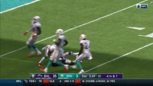 Fake, Memes, and Nfl: ONFL  BAL 35  MIA  2ND 2:49 25  4TH & 1  TEN 10  NFL  CLE  6  2ND 3:15  N. CHUBB: 6 RUSH, 24 YDS FAKE PUNT!  Anthony Levine goes 60 yards up the middle! @ALevine41  📺: CBS 📱: NFL app // Yahoo Sports app  Watch on mobile: https://t.co/PoZiStO3mL https://t.co/Rz1EwUJlz9