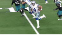 HOW 'BOUT @Dak Prescott?  183 yards + 2 TD in the air. 82 yards + TD on the ground.  His #JAXvsDAL highlights! #DallasCowboys https://t.co/loAqeUOdQn: ONFL HOW 'BOUT @Dak Prescott?  183 yards + 2 TD in the air. 82 yards + TD on the ground.  His #JAXvsDAL highlights! #DallasCowboys https://t.co/loAqeUOdQn
