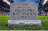 Memes, Seahawks, and 🤖: ONFL MEMES  HERE LIES THE  SEAHAWKS  BANDWAGON  2012-2OT8 https://t.co/LnbEcrXRZw