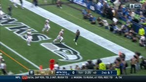 All tied up in Seattle.  @DangeRussWilson hits @TDLockett12 for the TD! #NOvsSEA  ?: CBS ?: NFL app // Yahoo Sports app Watch on mobile: https://t.co/qnNxI5gZ8j https://t.co/P1FLO01jZb: ONFL  NO  SEA  (2-0)  1ST 2:25 40  2ND & 7  (1-1)  NFL EB 20/36, 249 YDS, TD, 2 INT; RUSH TD  A. TA  J. MIXON: 15 RUSH, 61 YDS; REC TD All tied up in Seattle.  @DangeRussWilson hits @TDLockett12 for the TD! #NOvsSEA  ?: CBS ?: NFL app // Yahoo Sports app Watch on mobile: https://t.co/qnNxI5gZ8j https://t.co/P1FLO01jZb