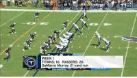 Memes, Run, and DeMarco Murray: ONFL  WEEK1  TITANS: 16 RAIDERS: 26  DeMarco Murray 21 yard run In the #NFLPlayoffs for the first time since 2008...  The @Titans' best play from EVERY game! #TitanUp https://t.co/ywHsbRchOF