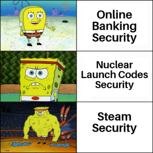 It is known: Online  Banking  Security  Nuclear  Launch Codes  Security  Steam  Security  డేదవ  36 It is known