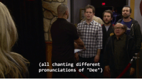 "ONLt  Call chanting different  pronunciations of ""Dee"") The subtitles make it great"