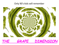 Kids, 90's, and Will: Only 90's kids will remember  THE GRAPE DIMENSION