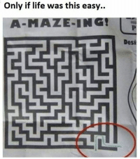 Memes, Easy A, and 🤖: Only if life was this easy..  A-MAZE-ING!  Desi