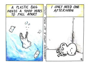 Dank, Fall, and Memes: /ONLY NEED ONE  AFTERNOON  BAG  A PLASTIC  NEEDS A 1000 YEARS  TO FALL APART  R  2ATED COtics & HOT PAPER COMICS  w Meirl by adeptopeth212 MORE MEMES