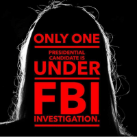 Truth bomb!: ONLY ONE  PRESIDENTIAL  CANDIDATE IS  UNDER  INVESTIGATION. Truth bomb!