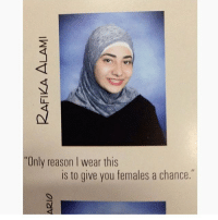"""Crying, Memes, and Reason: """"Only reason I wear this  is to give you females a chance."""" CRYING"""