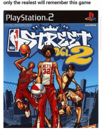 Memes, Nba, and PlayStation: only the realest will remember this game  PlayStation 2  @CHLLDHOODRUINER  NTSC U/C  NBA  NETS I remember this👌🏾🔥💯