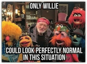 Perfectly Normal: ONLY WILLIE  COULD LOOK PERFECTLY NORMAL  IN THIS SITUATION
