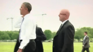 Obama, Tumblr, and Blog: onlyblackgirl: blackqueerblog:   Yesterday It took Trump an entire motorcade to cross the street in  Washington D.C.  Here's a video of Obama walking two miles in D.C. to  his destination, stopping to chat with Americans on his way.   My man 😍   If trump walked 2 miles he'd probably die of a heart attack.