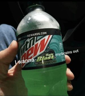 Meirl: ONREWARDS.COM  280  Bais  anna Blmybrains out  DEW wite Blast of Natural&  ArtificialEropical Lime Flavor Meirl