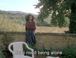 Being Alone, Tumblr, and Blog: on't mind being alone freshmoviequotes:Autumn Tale (1998)