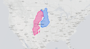 mapsontheweb:  Size of Finland and Sweden compared to the United States.More size comparison maps »: ONTARIO  QUÉBEC  Calgary  Regina  Winnipeg  Vancouver  Victoria  Seattle  NORTH  KOTA  WASHINGTON  Quebec City  NI  BRUN  MONTANA  MINNESOTA  Portland  Ottawa Montreal  Minneapolis  MAINE  SSUT  SOUT  DAKOT  WISCONSIN  VERMONT  Toronto  OREGON  MICHIGAN  NEW  HAMPSHIRE  IDAHO  Milwaukee  WYOMING  NEW YORK  Detroit  MASSACHUSETTS  Chicago  IOWA  SEBRASKA  ст  RI  PENNSYLVANIA New York  Philadelphia  NJ  Salt Lake City  ILLINOIS  OHIO  INDIANA  Denver  Uhited States  NEVADA  MARYLAND  UTAH  DE  Sacramento  COLORADO  WEST  VIRGINIA  Washington  MISSOURI  San Francisco  VÍRGINIA  KENTUCKY  San Jose  Las Vegas  Nashville  CALIFORNIA  NORTH  o CAROLINA  Charlotte  OKLAHOMA  TENNESSEE  Albug erque  ARKANSAS  Los Angeles  ARIZONA  Phoenix  NEW MEXCO  Atlanta  SOUTH  CAROLINA  MISSISSIPPI  Dallas  San Diego  ALABAMA  GEORGIA  Tucson  El Paso  TEXAS  BAJA  Jacksonville  CALIFORNIA  Austin  LOUISIANA  SONORA  Houston  San Antonio  New Orleans  CHIHUAHUA  Orlando  Tampa  COAHUILA  FLORIDA  NUEVO LEÓN  Monterrey  Miami  Gulf of  Mexico  SINALOA DURANGO  BAJA  The  CALIEORNIA CUR  Gulf of California mapsontheweb:  Size of Finland and Sweden compared to the United States.More size comparison maps »