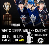 Vote on who you think is gonna win the NHL awards (link in profile) for your chance to win a Hockey Cup! thehockeycup HAchallenge: ONTO  OPLE  AWARDS  LAS VEGAS 2017  WHO'S GONNA WIN THE CALDER?  OTHEHOCKEY CUP  GO TO THE LINK  AND VOTE TO WIN Vote on who you think is gonna win the NHL awards (link in profile) for your chance to win a Hockey Cup! thehockeycup HAchallenge