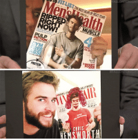 """<p>It&rsquo;s on! <a href=""""https://www.youtube.com/watch?v=mhB0ob_mqVs&amp;index=1&amp;list=UU8-Th83bH_thdKZDJCrn88g"""" target=""""_blank"""">Chris Hemsworth and Liam Hemsworth get creative with each other&rsquo;s magazine covers</a>&hellip;<br/></p>: ONTONİGHT  enalth  RIGHT  PULP  AGE-ER  GYM  7 SMA  PROTEIN   # FALLO NTON  IGHT  HOLLYWOOD  MICHAEL IE  SL  TR ADE  ESSIC  ILB.1  Helpl  CHRIS  HEMSWORTH <p>It&rsquo;s on! <a href=""""https://www.youtube.com/watch?v=mhB0ob_mqVs&amp;index=1&amp;list=UU8-Th83bH_thdKZDJCrn88g"""" target=""""_blank"""">Chris Hemsworth and Liam Hemsworth get creative with each other&rsquo;s magazine covers</a>&hellip;<br/></p>"""