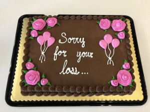 Work, Cake, and Today: onu  for  lau Today was my last day at work, so I bought the team a cake