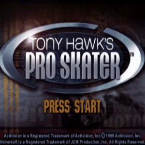 Ony: ony HaWKS  PRESS START  Activision is a Registered Trademark of Activislon, Inc01999 Activision, Inc  eversoft is a Registered Trademark of JCM Production, Inc. All Rights Reserved