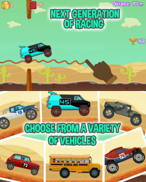Google, School, and Tumblr: Oo  25  Distance: 103m  NEXT  OF RACING  968   OFVEHICLES  SCHOOL BUS  73 novelty-gift-ideas:   Road Draw - Hill Climb Race     ★★★ New Global Racing Phenomenon ★★★ ★★★ #1 Top Free Racing Game in many countries ★★★