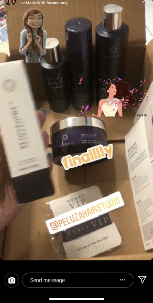 Family, God, and Soon...: oO Made With Boomerang  ONA  tiwis o-vder  REPLENISH  MASQUE  nfd  deE  ONAT  finallly  wser  MONAT  VIP  @PELUZAHAIRSTUDIO  Κον TVIP  Welcome to Your Best Hair  Send message  NIHIOOS oh god not my family too. guess i should expect her to be balding soon.