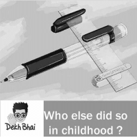 Those days 😍: OO Who else did so  ai in childhood?  Dekh Bh Those days 😍