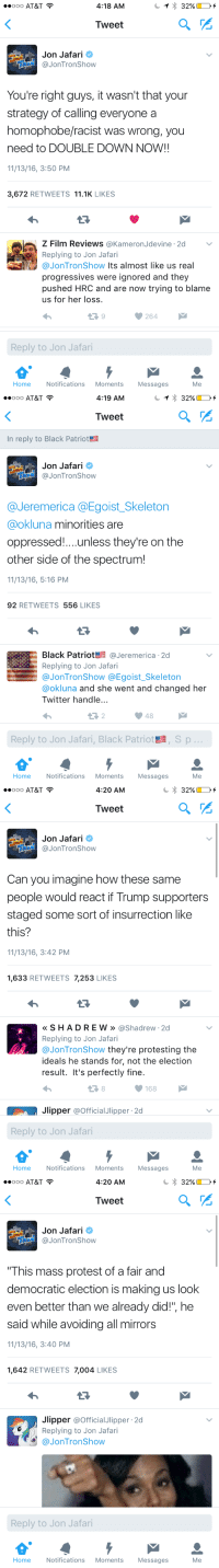 """Protest, Twitter, and At&t: ..ooo AT&T  4:18 AM  Tweet  