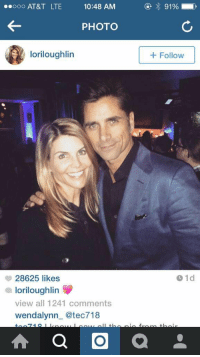 This speaks to my childhood in so many different ways: ..ooo AT&T LTE  10:48 AM  PHOTO  lori loughlin  28625 likes  loriloughlin  a view all 1241 comments  wendalynn @tect 718  a O  91%  Follow This speaks to my childhood in so many different ways