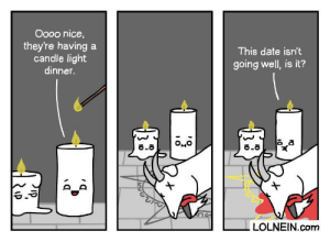 Date, Nice, and Com: Oooo nice,  they're having  candle light  dinner.  This date isn't  going well, is it?  8.8  LOLNEIN.com Candlelight Dinner