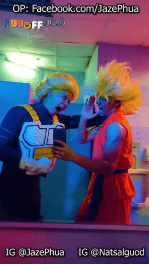 Dank, Dragonball, and Facebook: OP: Facebook.com/JazePhua  IG @JazePhua  IG @Natsalguod Mirror run - Dragonball version! Congrats to Jaze Phua 潘家威 on becoming our #9GAGFunOff Week 21 winner!